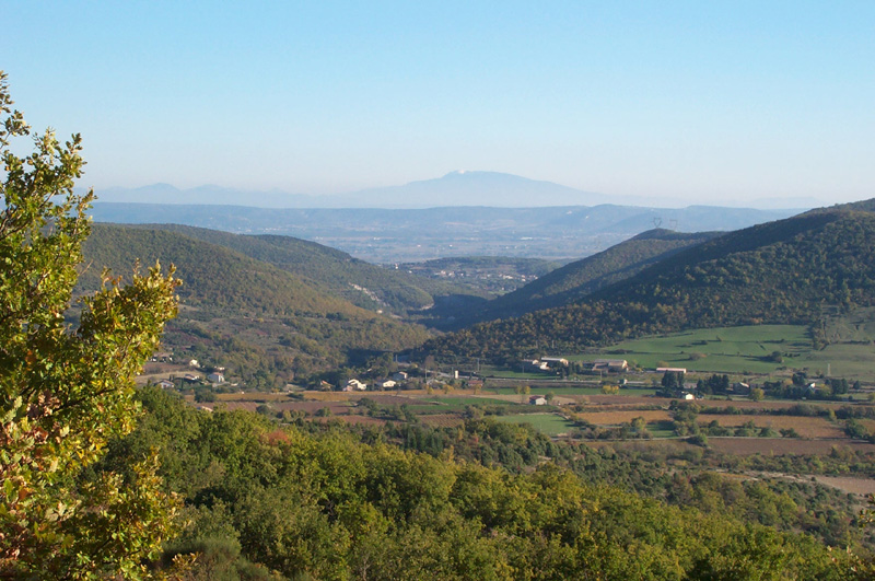 Mont Ventoux from aubignas village